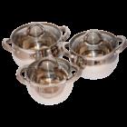 Berghome Line 6 részes edény készlet rozsdamentes edény készlet, szett 16, 18, 20 cm