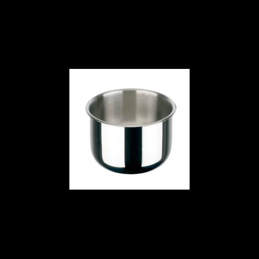 Inoxibar Porthos rozsdamentes lábas  levehető nyéllel műanyag zárható fedővel(külön vásárolható) átmérő: 20 cm, magasság: 8 cm, 2,5 L