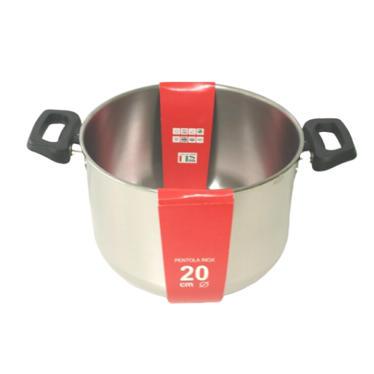 Steel Pan rozsdamentes fazék műanyag fogantyúval 22 x 14.5 cm, 5.5 l