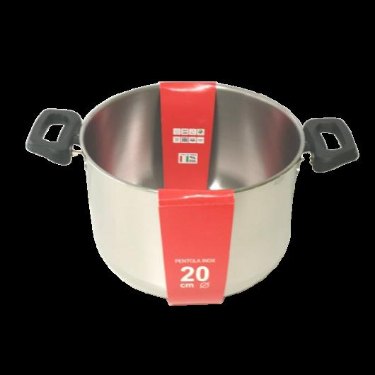 Steel Pan rozsdamentes fazék műanyag fogantyúval 18 x 12,5 cm, 3,1 l