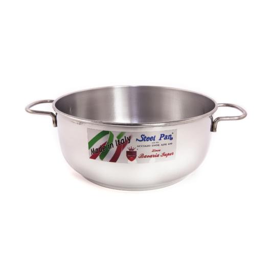 "Steel Pan rozsdamentes lábas rozsdamentes fogantyúval 24 x 10 cm, 4.5 l  ""My home"""