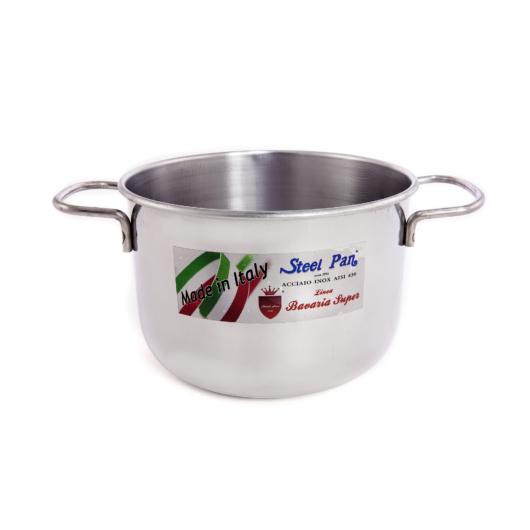"Steel Pan rozsdamentes fazék rozsdamentes fogantyúval 16 x 12.5 cm , 2.5 l ""My home"""