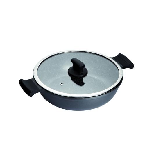 Inoxibar  rozsdamentes szelet sütő  28 cm fedővel Absolut Black Range