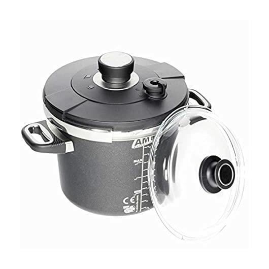 """AMT Gastroguss the """"World's Best Pan""""  kukta/gyorsfőző szett, 2 fedővel, 22 cm, 4.5 l"""