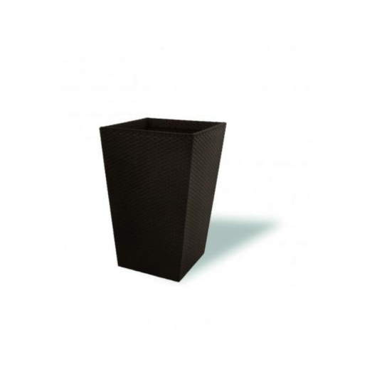 Keter rattan hatású  virágtartó / cserép 28x43 cm, 23,6L 228977