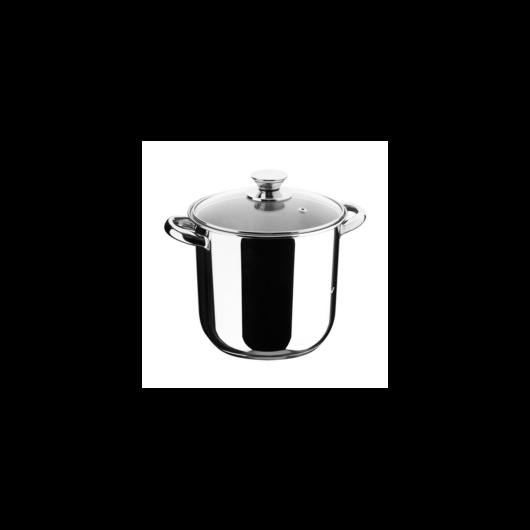 Inoxibar Ecco Cristal rozsdamentes fazék üveg fedővel 16 x 16 cm, 3,2 L, 18/10