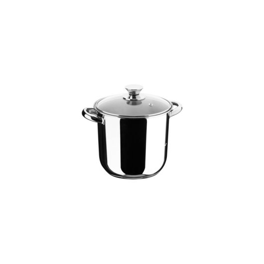 Inoxibar Ecco Cristal rozsdamentes fazék üveg fedővel 20 x 20 cm, 6,25 L 18/10