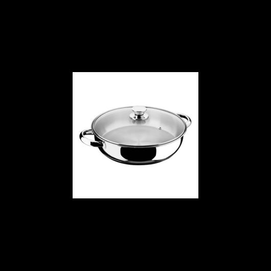Inoxibar Ecco Cristal rozsdamentes szeletsütő üveg fedővel 28 x 7 cm, 4 L, 18/10
