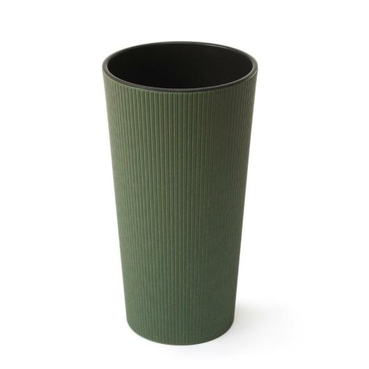 Lamela 874 LILIA ECO JUMPER virágcserép/kaspó + betét vegyes színben, 19 cm, zöld