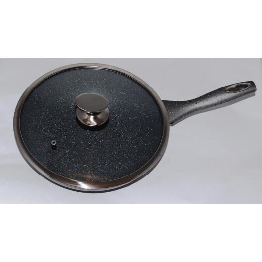 Silver Royal wok márvány bevonatos 28cm üvegfedővel