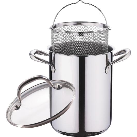 Bergner Gourmet 18/10 rozsdamentes acél spárga/tésztafőző szett üvegfedővel 16X21CM 4.2L