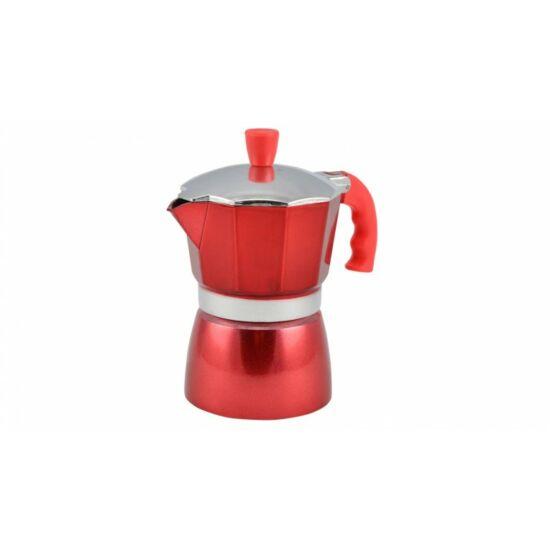 Perfect Home  kotyogós kávéfőző piros 3 személyes