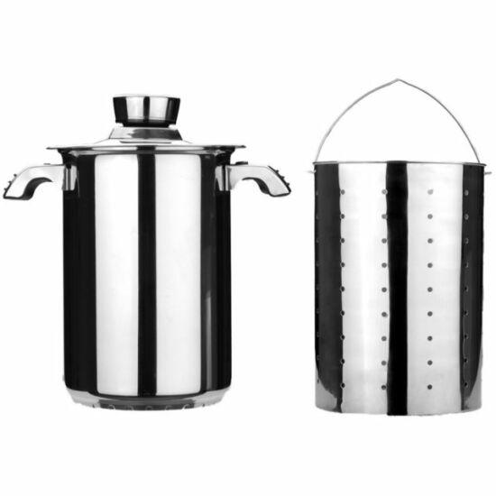 BergHOFF rozsdamentes spárgafőző/tésztafőző edény 16 cm, magasság 24 c, tésztaszűrő betéttel