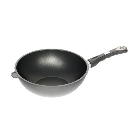 "AMT Gastroguss the ""World's Best Pan""  wok,  28 cm, 11 cm magas,  indukciós, indikátorral"