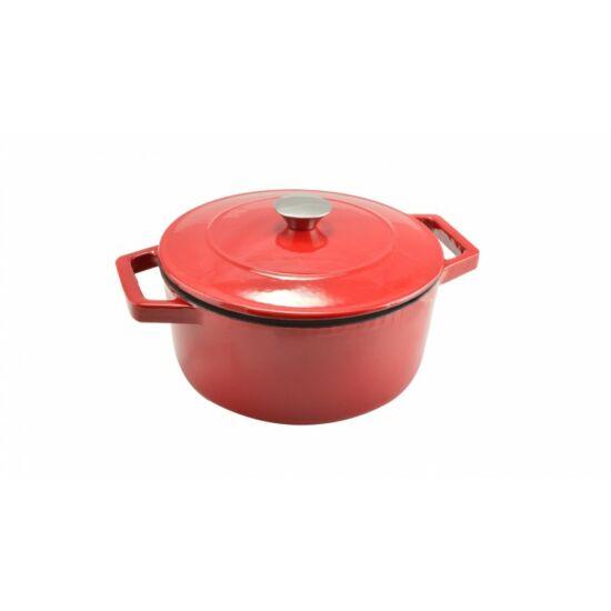 Perfect Home 12968 Zománcozott öntöttvas lábas 24 cm 4 literes piros