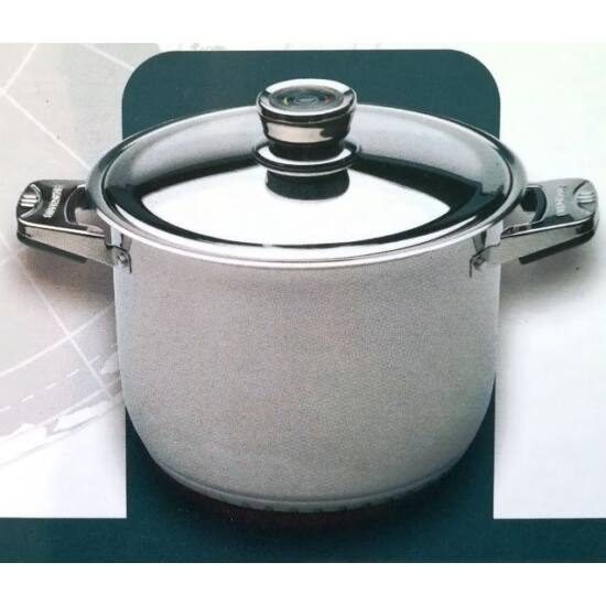 BERGHAUS rozsdamentes  fazék, 10L, 26 cm, 18/10 rozsdamentes acélból, hőfok jelző rozsdamentes fedővel