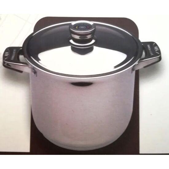 BERGHAUS rozsdamentes  fazék, 11,7L, 26 cm,  18/10 rozsdamentes acélból, hőfok jelző rozsdamentes fedővel