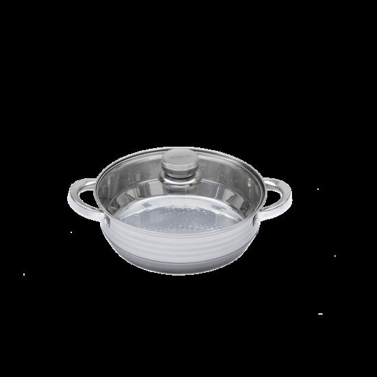 Berghome Line rozsdamentes szelet sütő 24 cm üveg fedővel