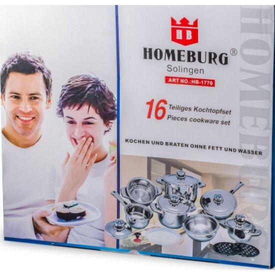 Homeburg Rozsdamentes 16 részes edény készlet, szett