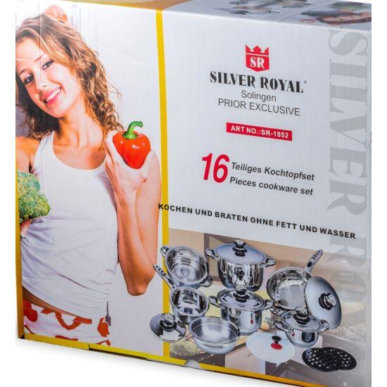Silver Royal Rozsdamentes 16 részes edény készlet  szett