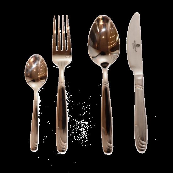 Silver Royal Diamond evőeszköz készlet 24 darabos  10/18 rozsdamentes acél