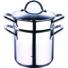 Kép 2/4 - Bergner Gourmet 18/10 rozsdamentes acél tésztafőző szett 3 darabos üvegfedővel 16X21 cm